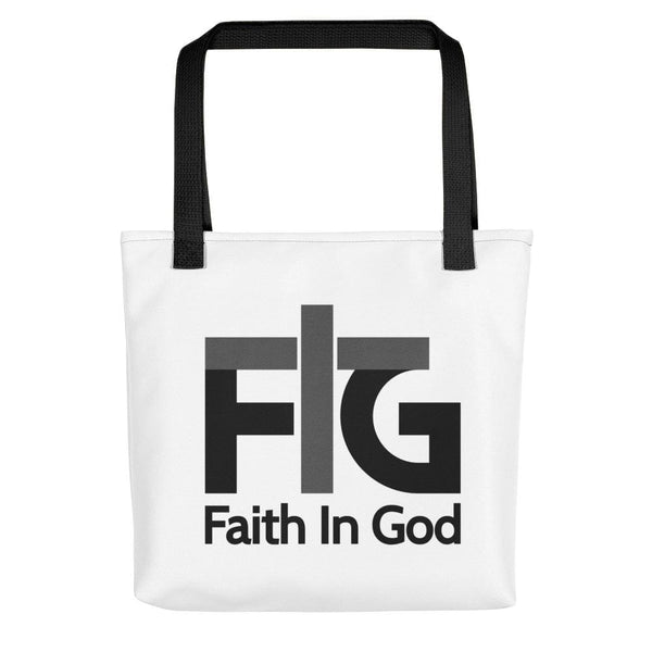 Tote Bag Faith in God 2 Black