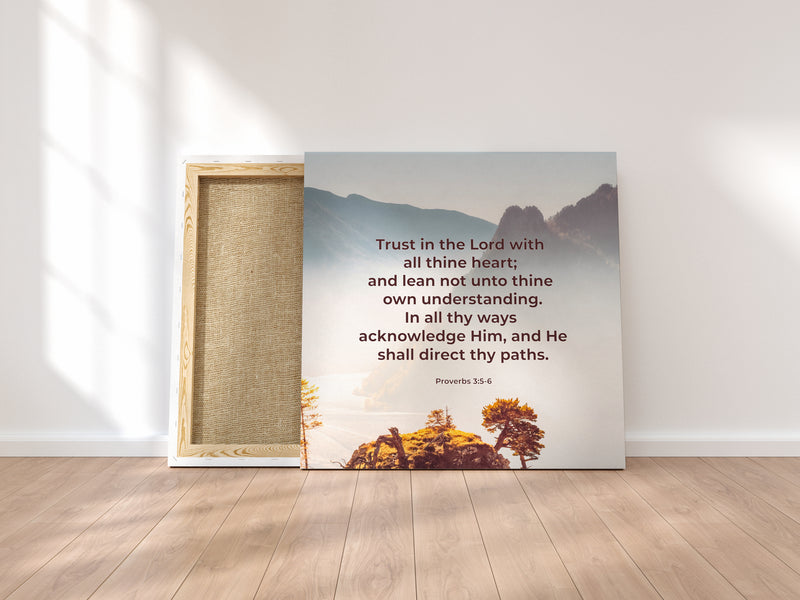 """Trust God"" Canvas Wraps"
