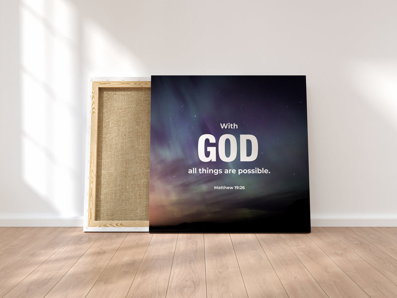"""With God"" Canvas Wraps"