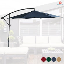Load image into Gallery viewer, 10ft Patio Offset Cantilever Umbrella with Crank & Cross Base for Garden - Project One Products