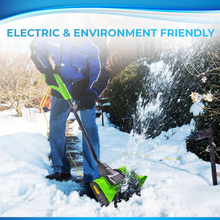 "Load image into Gallery viewer, Project One Electric Snow Thrower Corded 9 Amp 120 Volt, Snow Shovel 13"" Width, 450 LBS/Minute"
