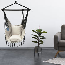 Load image into Gallery viewer, Hanging Rope Hammock Chair with 2 Pillows, Carrying Bag, and Hardware Kit, 300 Pound Capacity - Project One Products