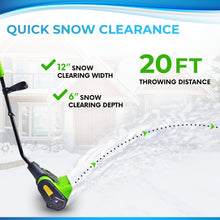 "Load image into Gallery viewer, Project One Electric Snow Thrower Corded 9 Amp 120 Volt, Snow Shovel 13"" Width, 450 LBS/Minute - Project One Products"