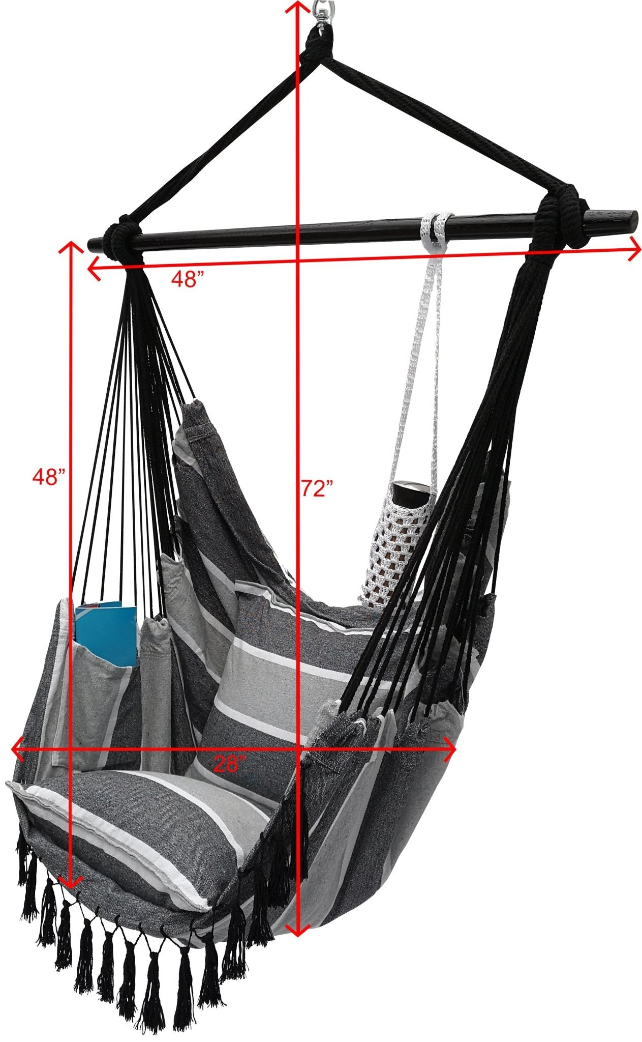 Hanging Rope Hammock Chair With 2 Pillows Carrying Bag And Hardware Project One Products
