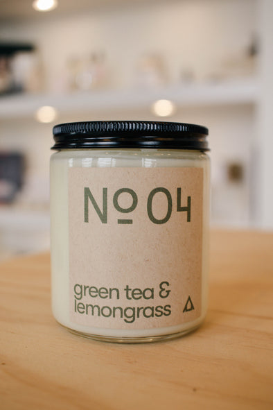 No. 04 - Green Tea & Lemongrass Soy Candle