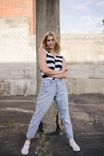 Vintage High Waisted Denim Mom Jeans