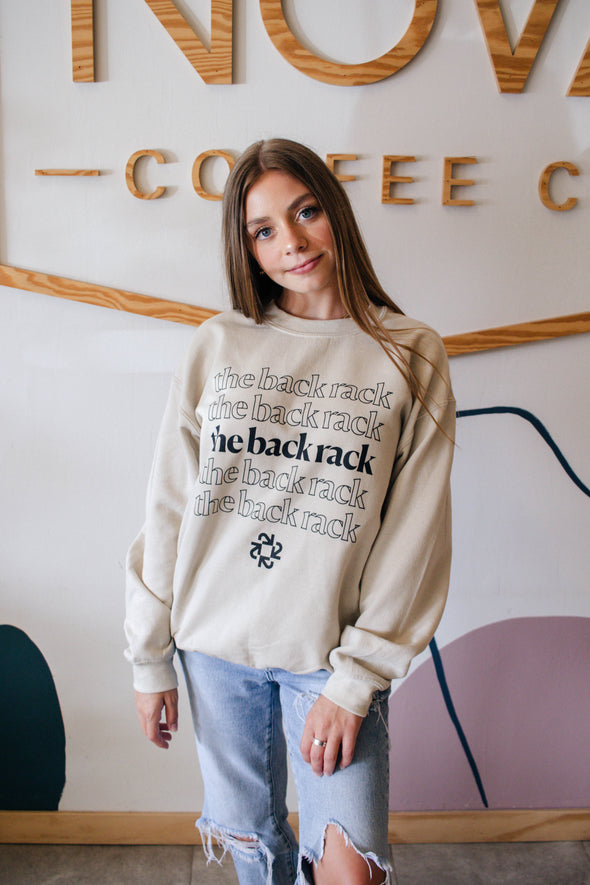 The Back Rack Repeat Logo Nude Sweatshirt
