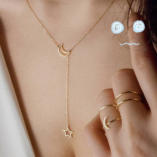 Minimalist Two Leaves Pendant  Necklaces Women Jewelry