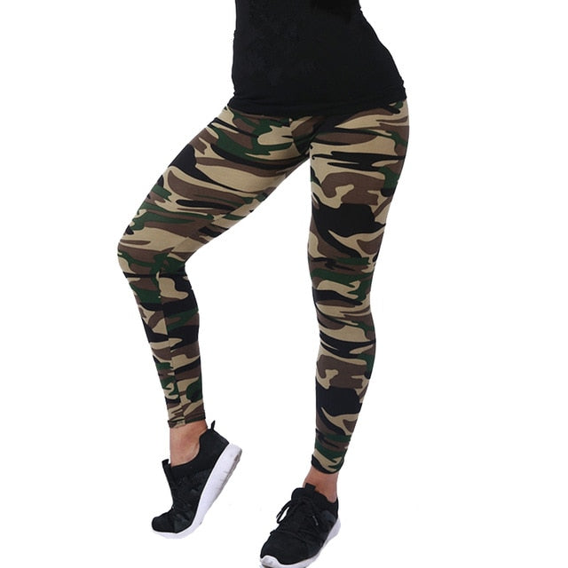 Women Leggings High Elastic Skinny Camouflage Legging and other Prints Leisure Pants