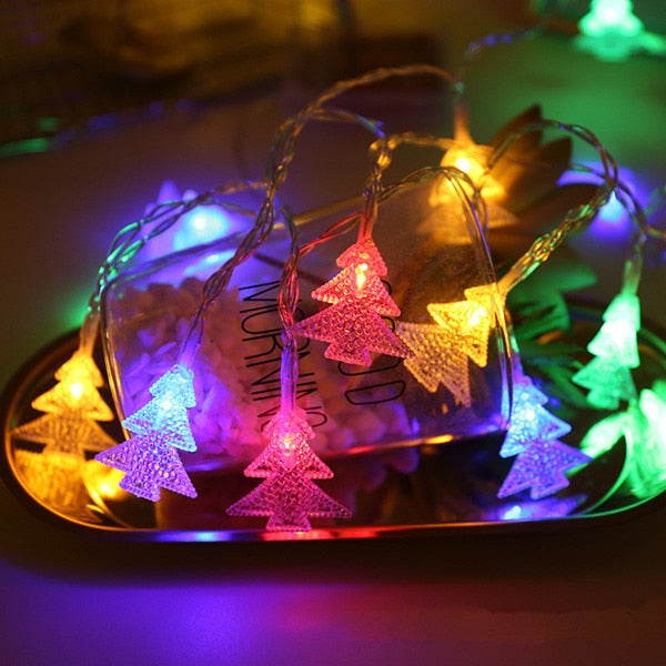 Christmas Decorations for Home 1 M 3M 6M Light Garland Lamp Battery Box New Year Gifts Christmas Tree Decorations Natal