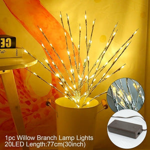 Willow Branch Light Ornament Merry Christmas Decoration for Home Christmas store Decor Natal