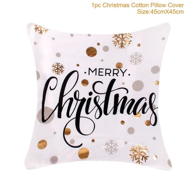 FENGRISE Merry Christmas Pillow Case Christmas Ornaments Navidad Christmas Decoration For Home Happy New Year 2020 Xmas 2019
