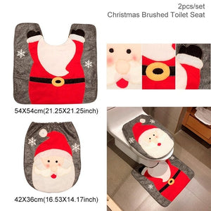 HUIRAN Christmas Bathroom Curtains Mat Toilet Seat Ornaments Merry Christmas Decorations for Home 2019 Xmas Gifts New Year 2020