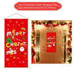 Merry Christmas Decorations For Home Outdoor Window Decoration Xmas Decor Outdoor Hanging Pendant Christmas Ornament New Year
