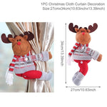 Christmas Curtain Holder Santa Elk Ornaments Christmas Decoration For Home Merry Christmas Deco Noel Gifts New Year 2019 Navidad