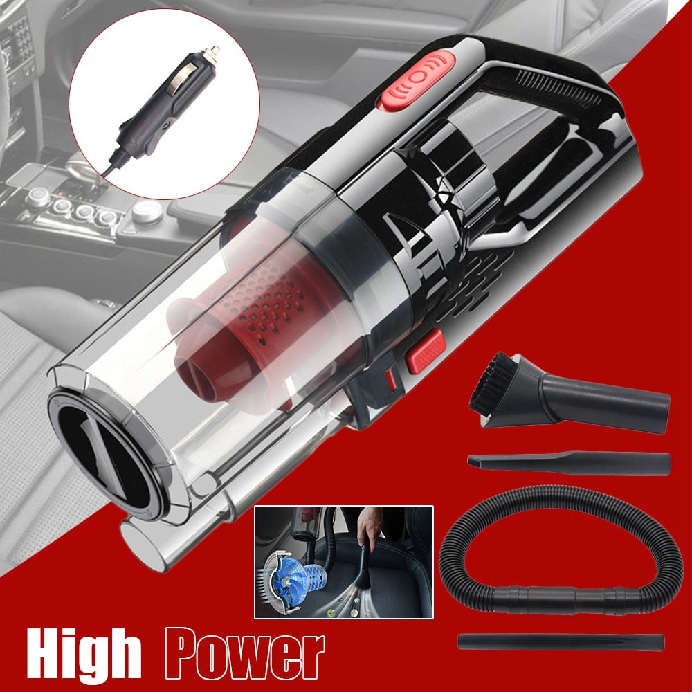 Wet/Dry Handheld Portable DC 12V  Car Vacuum Cleaner, Outlet Powered