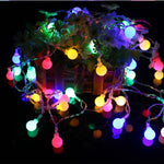 CHASANWAN 3 M 20 Lamp LED Star Battery Box Light String New Year New Year's Ornaments Christmas Decorations for Home Navidad.q