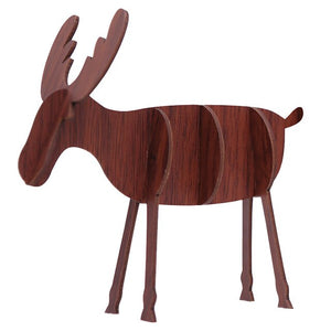 Christmas Wooden Decoration Reindeer Xmas Tree Shape Splice Ornament for Christmas Home Decor New Year Kids Favors Gift Supplies