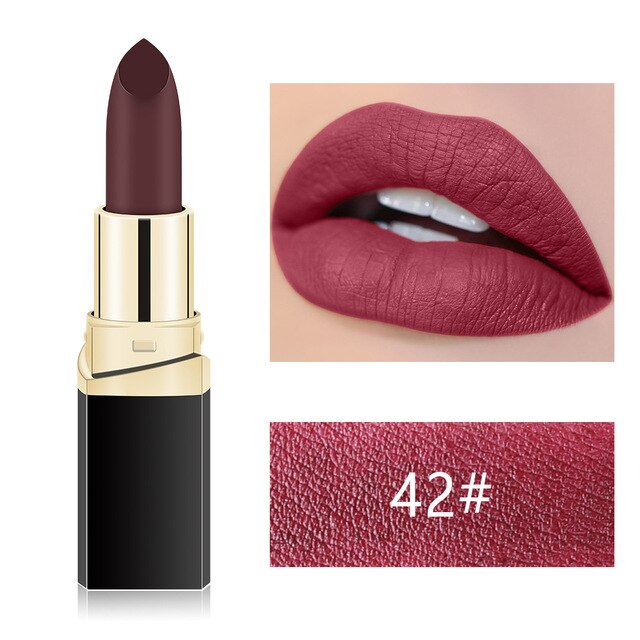 MISS ROSE Nude Makeup Matte Lipstick Long Lasting Lip Stick  Cosmetics Baton Waterproof Lip Gloss Popular Make Up