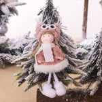 2020 New Year Latest Christmas Cute Silk Plush Angel Doll Xmas Tree Ornaments Noel Christmas Decoration for Home Baby Kids Gifts