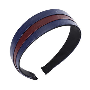 Synthetic Leather Headband Elegant Hairband  Hair Accessories