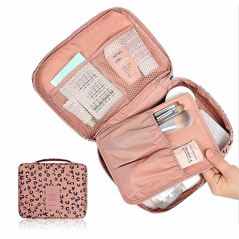 Women Makeup bag Cosmetic bag Case Make Up Organizer Toiletry Storage Rushed Floral Nylon Zipper New Travel Wash pouch #N
