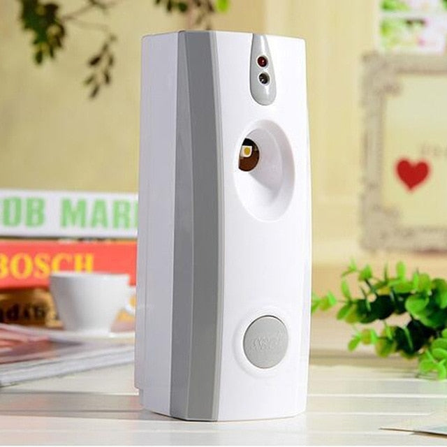 Automatic Air Freshener Light Sensor Fragrance Spray Wall Mounted for Perfume Cans Home Disinfector