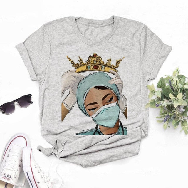 Women's Nurse Queen T-shirts
