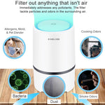 Air Purifier Cleaner for Home HEPA Filters  USB  -Low Noise
