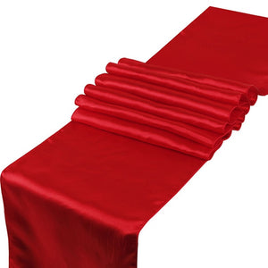 "23 Colors Satin Table Runners 12"" x 108"" /30cm x 275cm For Wedding Party Home Decorations Chair Sash Bow Table Cover Tablecloth"