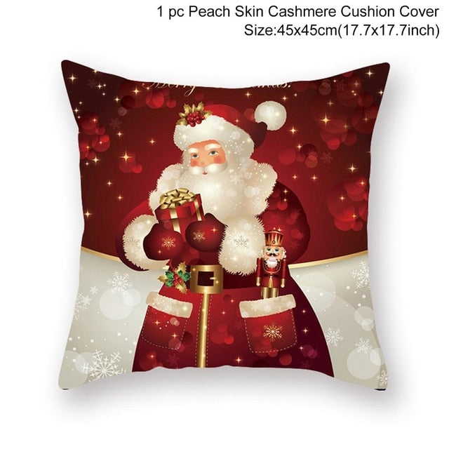 45x45cm Christmas Pillow Case Home Decoration Cushion Cover Christmas Decorative Pillows Cover Sofa Living Room Pillowcase Xmas