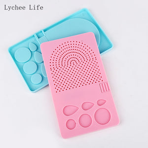 Lychee Life Paper Quilling Board Handmade Paper Rolling Template Knitting Grid Guide Winder With Pins Diy Paper Craft Tool