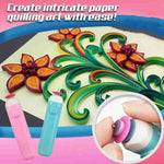 Automatic Paper Quilling Pen DIY Origami Roll Pen Handmade Needle Tool Pen Roll Craft Paper Tool Slotted Quilling Paper Ele U7R6