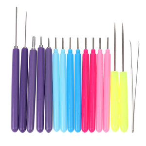 16Pcs Paper DIY Set Quilling Paper Tool Tweezer Needle Pins Slotted Pen Tool Kit