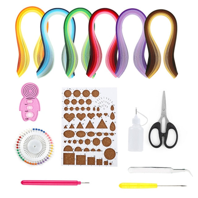 Paper Quilling Kit Paper Quilling Tools Set With 600 Paper Strips Paper Quilling Kit For Art & Craft Supplies Handmade DIY Decor
