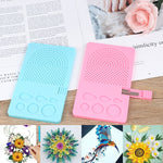 Latest Needle Plate Paper Folding 20 Roots Gift DIY Paper Quilling Tool Grid Guide Handmade Paper Craft Tool