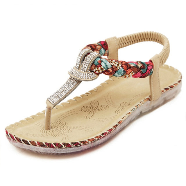 TIMETANG Women Sandals Bohemia Women Casual Shoes Sexy Beach Summer Girls Flip Flops Gladiator Fashion Cute Women Flats Sandals