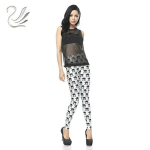 Printed musical  notes and other designs  High Waist Leggings