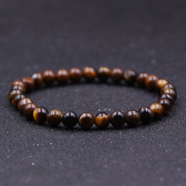 Mens  4mm 6mm 8mm 10mm Tiger eyes Beads Bracelet Natural Stone Handmade Jewelry Pulseras