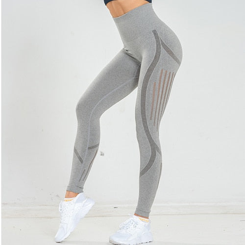 Women Seamless High Waist Workout Stretch Gym Leggins