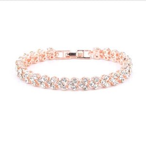 Womens Crystal Bracelets  Rose Gold Silver Gold Jewelry  Trinket Pendant