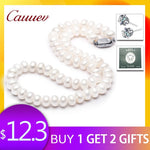 AAAA high quality natural  freshwater  pearl necklace  for women 3 colors 8-9mm pearl jewelry pendants jewelry