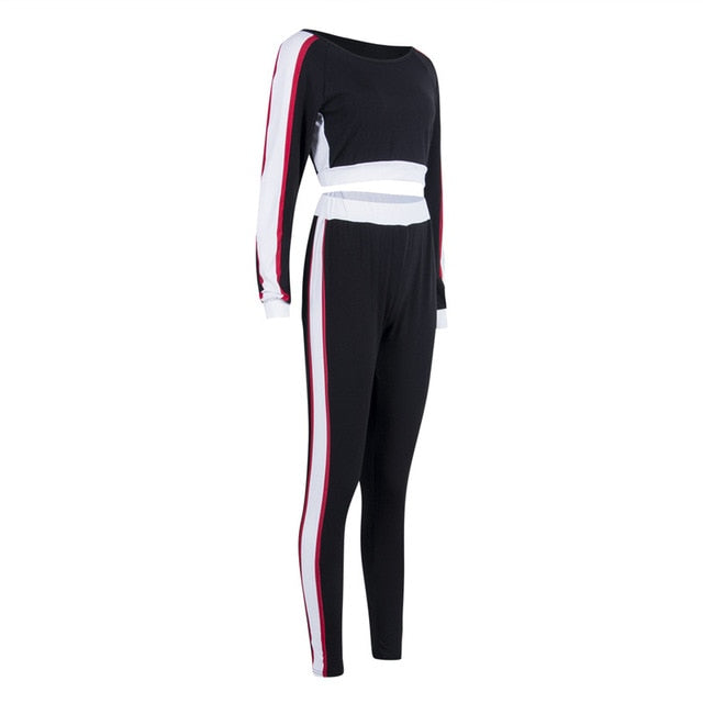 Women Sets Women Red Blue Black 2 pcs Sweatsuit Pullover Suits Women Tracksuits anytime wear