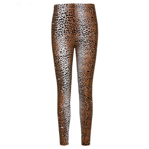 Print Flower Leggings Leggins Plus Size Legins Leopard grain Thin