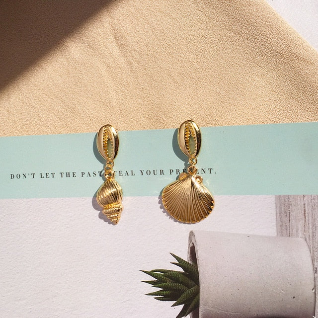 Natrural Shell Earrings For Women