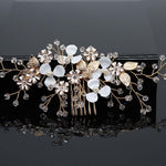 Bridal Hair Accessories Crystal Pearls Hair Combs Wedding Hair Clips Accessories Handmade