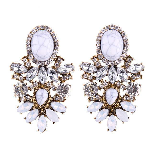Drop Earrings  Color Dangle Earring Big Long Trendy Jewelry