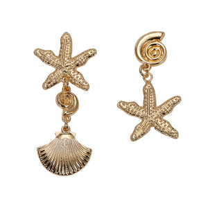 Girlgo Vintage 12 Design Metal Dangle Earrings For Women Charm Gold Color Za Maxi Statement Earrings Christmas Gift Porm Jewelry