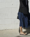 multi signature skirt in denim