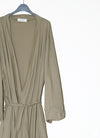 Trim Lounge Robe - Khaki